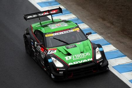 SUPER GT/GT500第4戦で優勝した「KONDO RACING」の「NISSAN GT-R」(2015年)