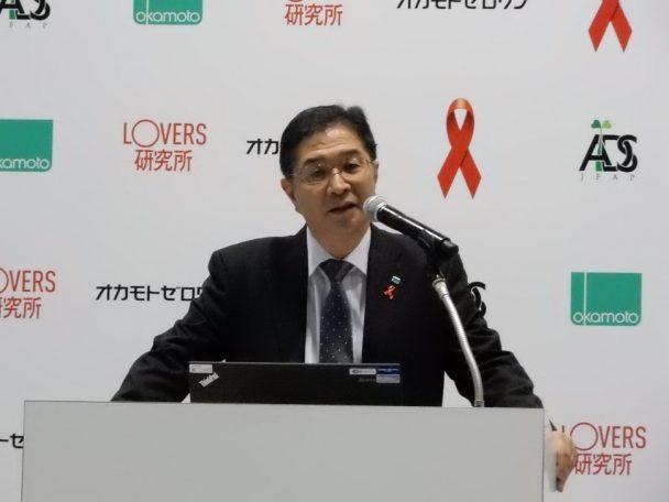 「コンドームのトップメーカーとして、予防啓発活動に全力で取り組んいく」池田佳司常務取締役