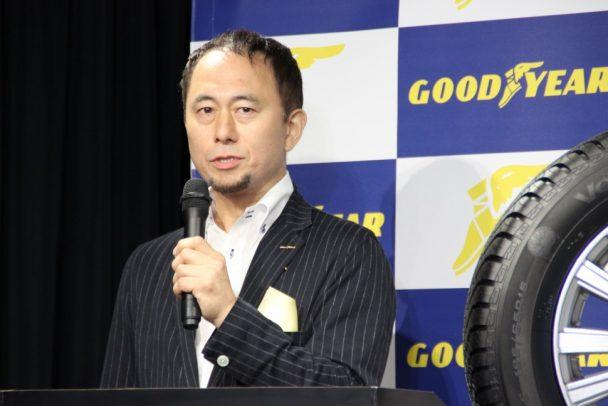 今後のPR活動について紹介する有田マーケティング本部長