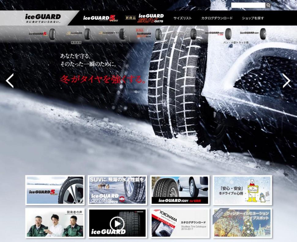 「アイスガード」オフィシャルウェブサイトのトップページ