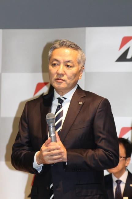 事業説明を行った執行役副社長グローバルソリューション事業管掌の石橋 秀一氏
