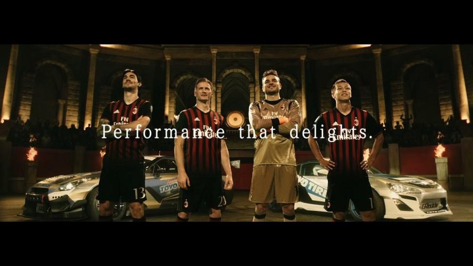 【動画】東洋ゴム AC Milan vs. Drift Cars | TOYO TIRES 90sec.