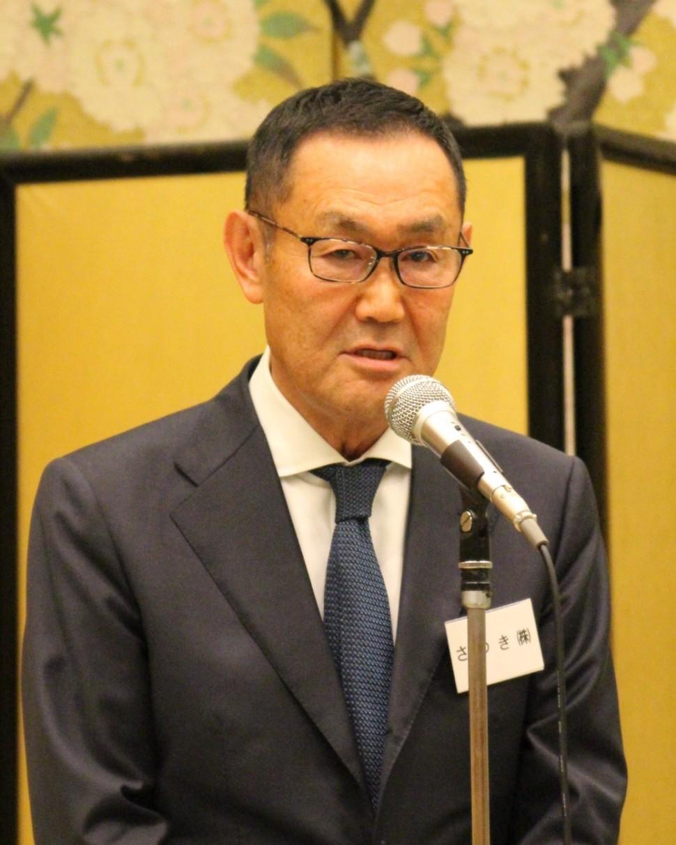 新年の抱負を述べる祖父江理事長