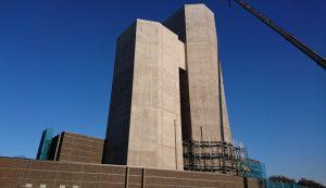 ランクセスのコンクリート着色剤のブレンド色を採用した首都高速神奈川7号横浜北線の地上施設