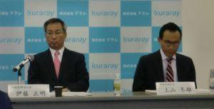 決算発表する伊藤社長(左)