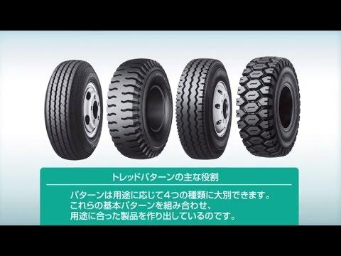 【動画】ダンロップ タイヤのパターンおよび特徴  タイヤの基礎知識  ダンロップ