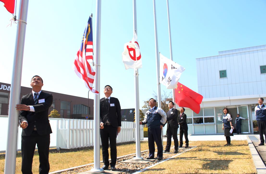 社旗、国旗掲揚