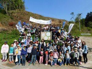 森林整備活動の参加者