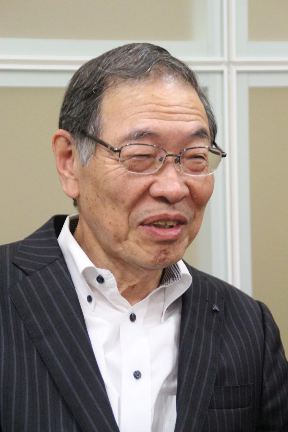 健康介護事業に期待と述べる西村代表取締役会長