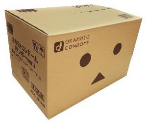 オカモトコンドーム(ダンボーver.)段ボールケースデザイン販売