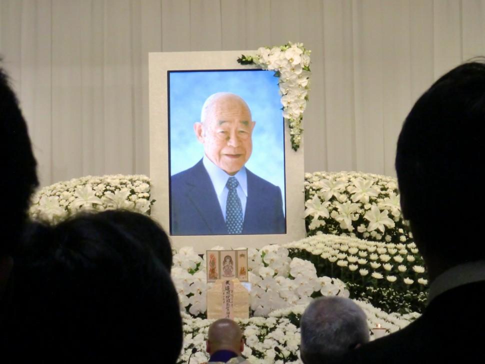 故中村雄太郎氏の社葬