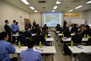 共翔会第2回総会で謝辞を述べる西村会長