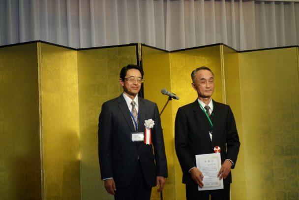 特別功労者として感謝状を贈られた広島ゴム技術員会元会長の吉光章容氏