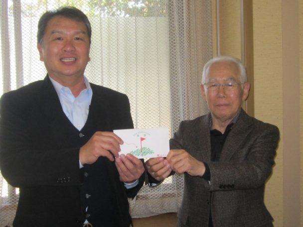 左・優勝の今井氏。右・上田副会長