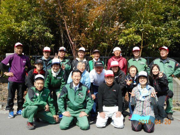 植樹祭に参加したメンバー