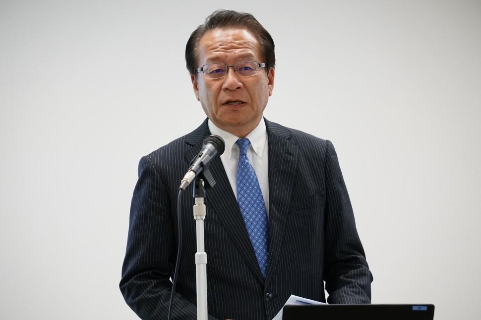 中計を説明する森田社長
