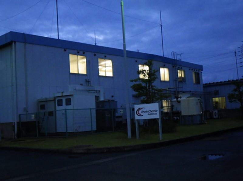①豊橋事業所の2017年のキャンペーン実施の様子(消灯前)