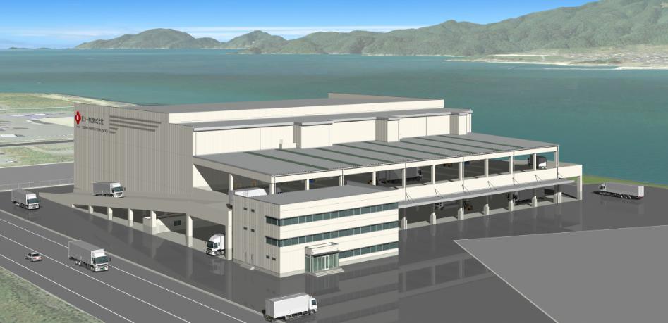 新物流センターの完成イメージ