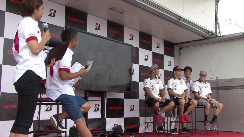 ブリヂストン動画 8耐 0729 2 3サポートチームライダー MuSASHi RT HARC PRO Honda