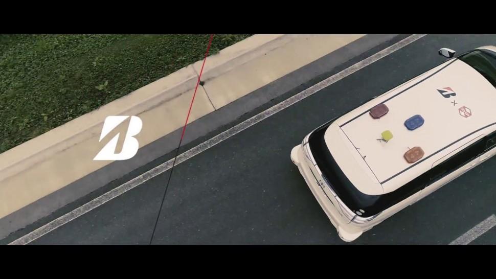 ブリヂストン動画 Tire noise tests using automated driving vehicles / Bridgestone