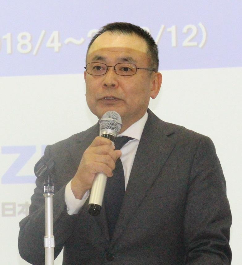 説明する今井取締役