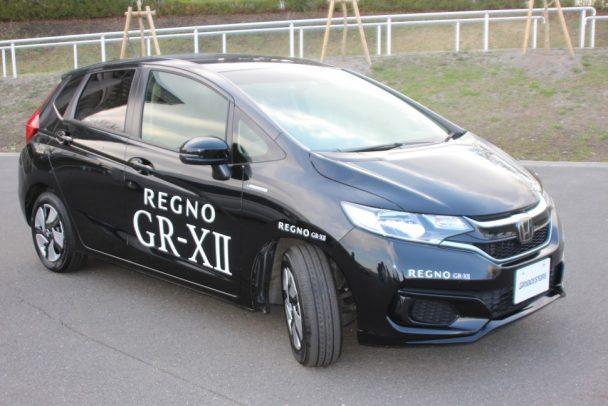 「GRーXⅡ」を装着し、周回路を走行、静粛性を体感することができた