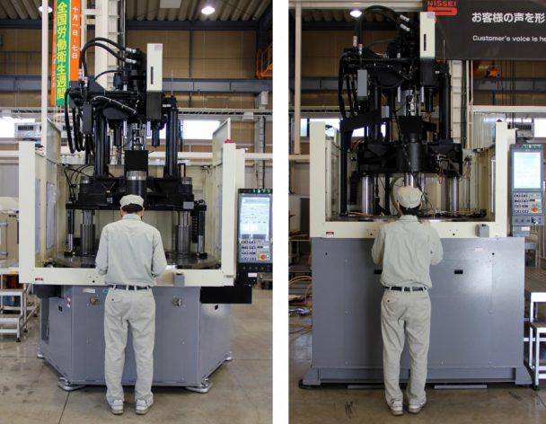 新製品(左)は旧製品(右)に比べ低床化を実現