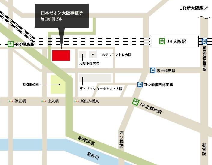 大阪新事務所マップ