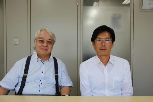 左から佐々木マネージャー、佐藤マネージャー