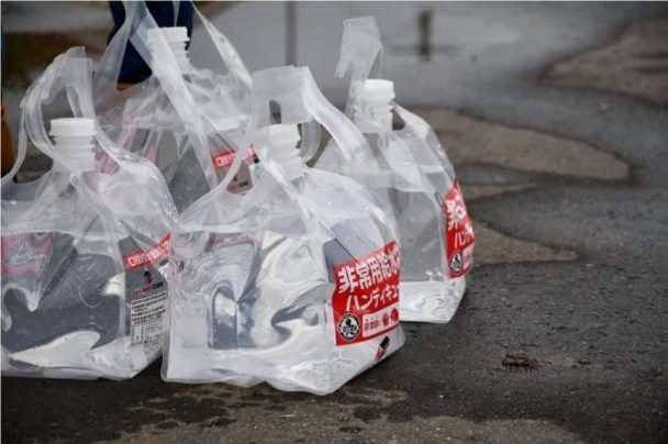 包装技術を活用した給水袋