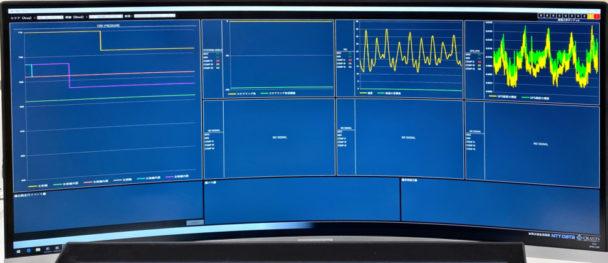 自動運転車からの送信データ管理画面