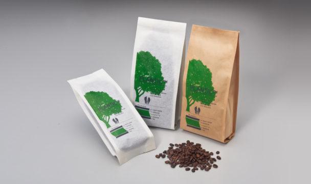 プランティック使用のコーヒーパウチ
