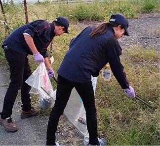 稲沢工場周辺の清掃活動