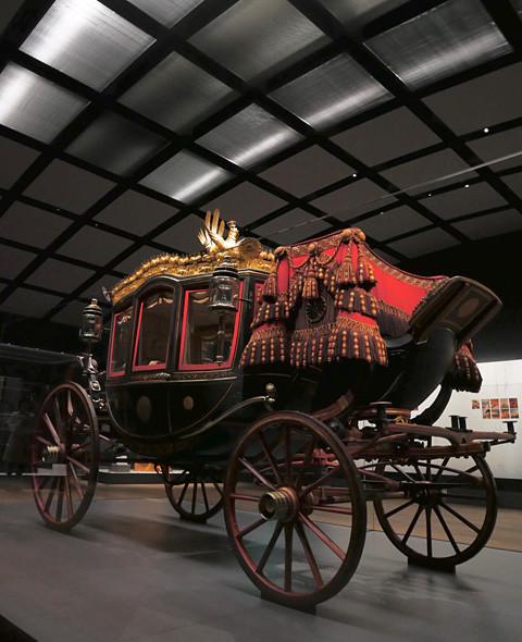明治神宮ミュージアムの六頭曳儀装車