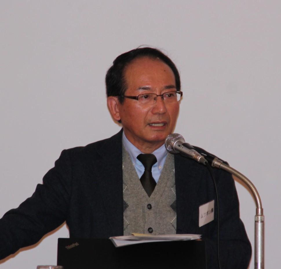 報告する田井支部長