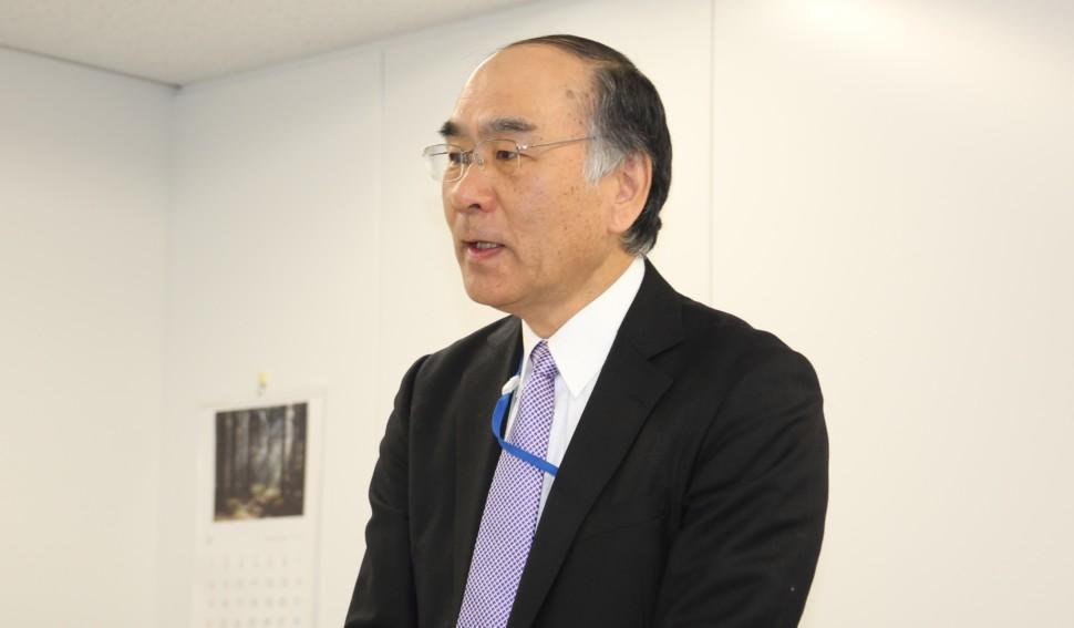 YKアクロス代表取締役社長に就任する中野社長