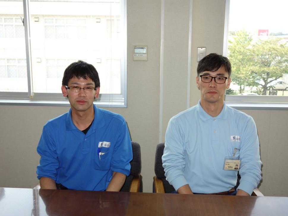 左から技術製造本部技術統括部技術開発グループ 材料技術チーム青海雄太氏と技術製造本部技術統括部技術開発グループ撰隆文サブリーダー
