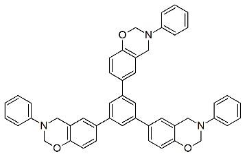 三官能性ベンゾオキサジンの構造