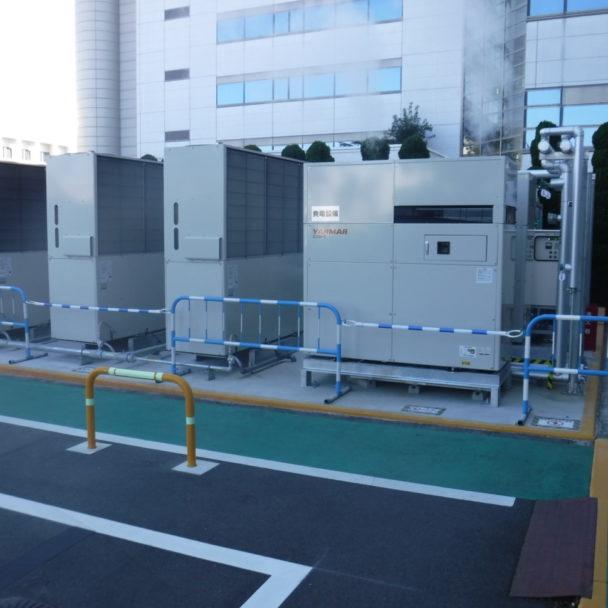 基盤技術センターのコージェネレーション設備