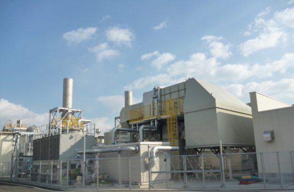仙台工場の天然ガスタービン設備