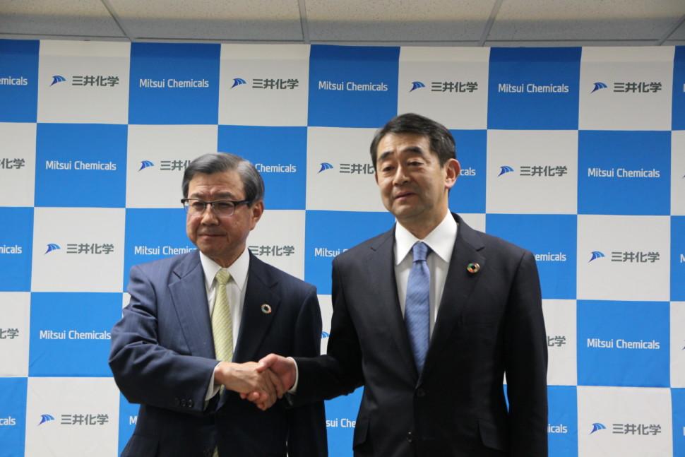 淡輪社長と4月1日付けから新社長になる橋本専務
