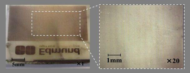 フッ素樹脂上の銅微細配線の表面