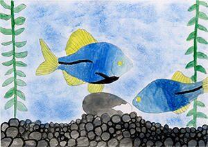 受賞作品「何をしようか考えている魚」