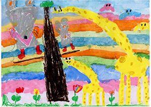 工場長賞作品「カラフルのどうぶつの森」