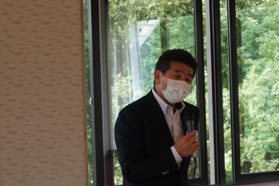 西井会長のあいさつ