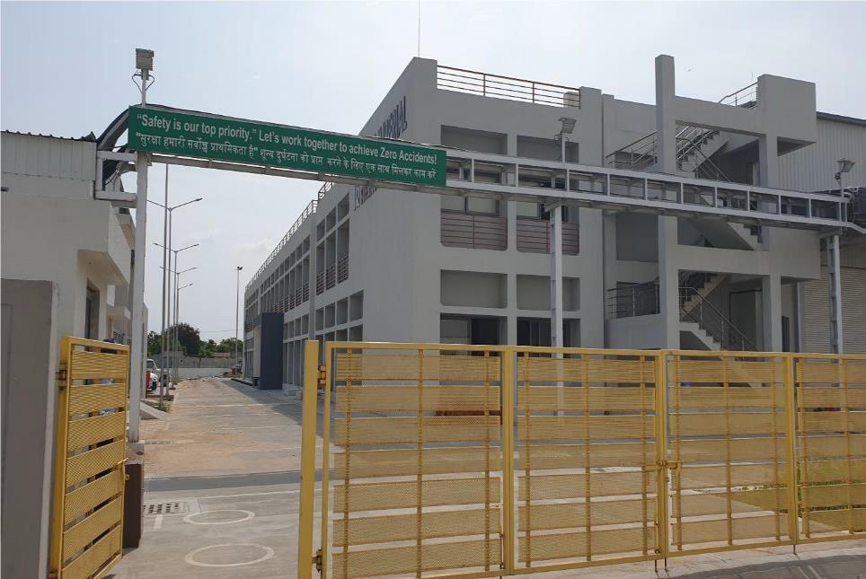 グジャラート州に開設した新工場