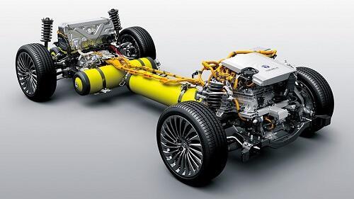 新型「MIRAI」の燃料電池ユニット