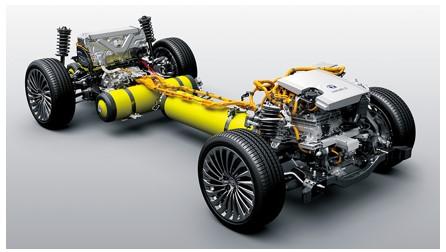 「MIRAI」の燃料電池ユニット