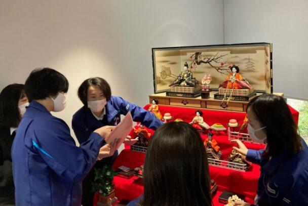 白河文化交流館でひな飾りを展示