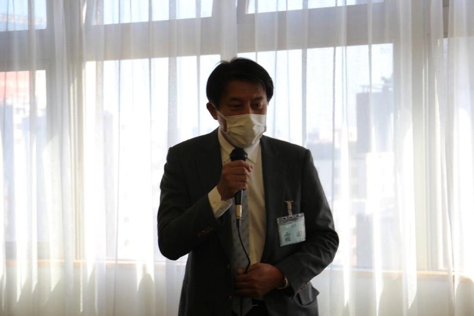 霜田新会長のあいさつ